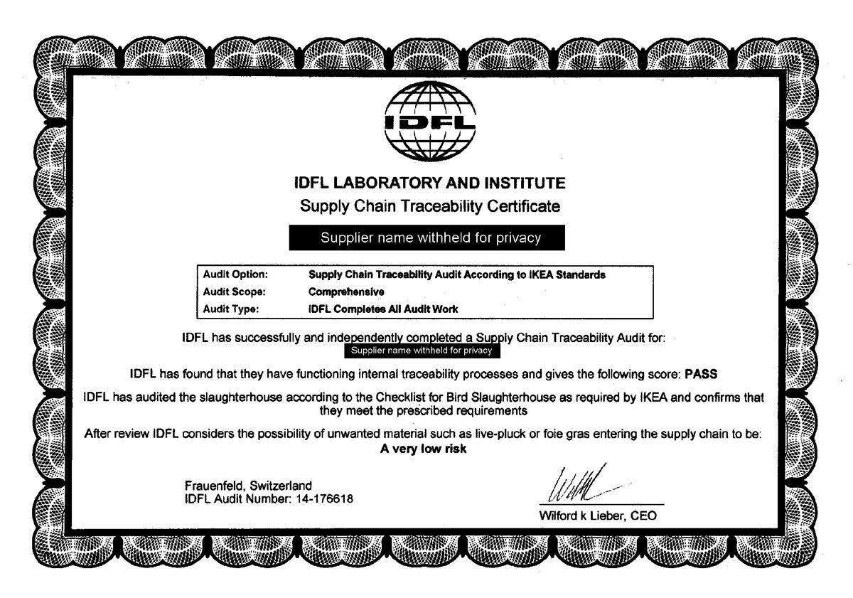 IDFL-Traceability-Certificate