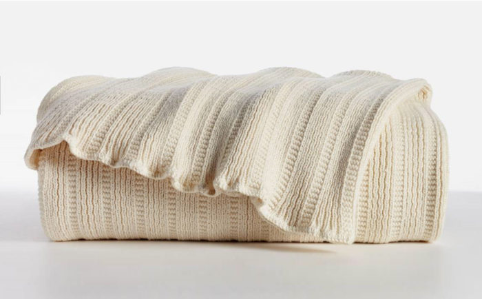 Certified Organic Cotton Classic Throw